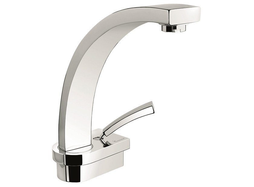 1 hole kitchen tap with swivel spout 42007 | Kitchen mixer tap by EMMEVI RUBINETTERIE