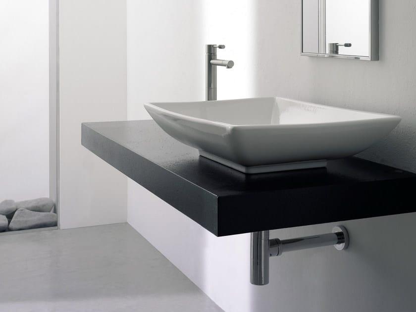 Countertop rectangular ceramic washbasin KYLIS by Scarabeo Ceramiche