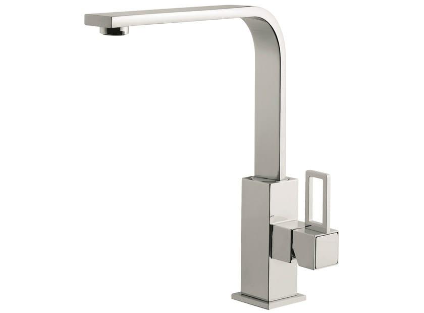 Countertop 1 hole kitchen mixer tap with swivel spout 26007LA | Kitchen mixer tap by EMMEVI RUBINETTERIE