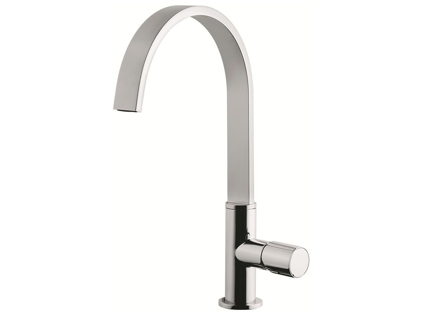 1 hole kitchen mixer tap with swivel spout 83007LA | Kitchen mixer tap by EMMEVI RUBINETTERIE