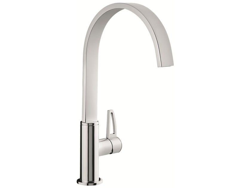 1 hole kitchen mixer tap with swivel spout 83007LA | Kitchen mixer tap by EMMEVI RUBINETTERIE