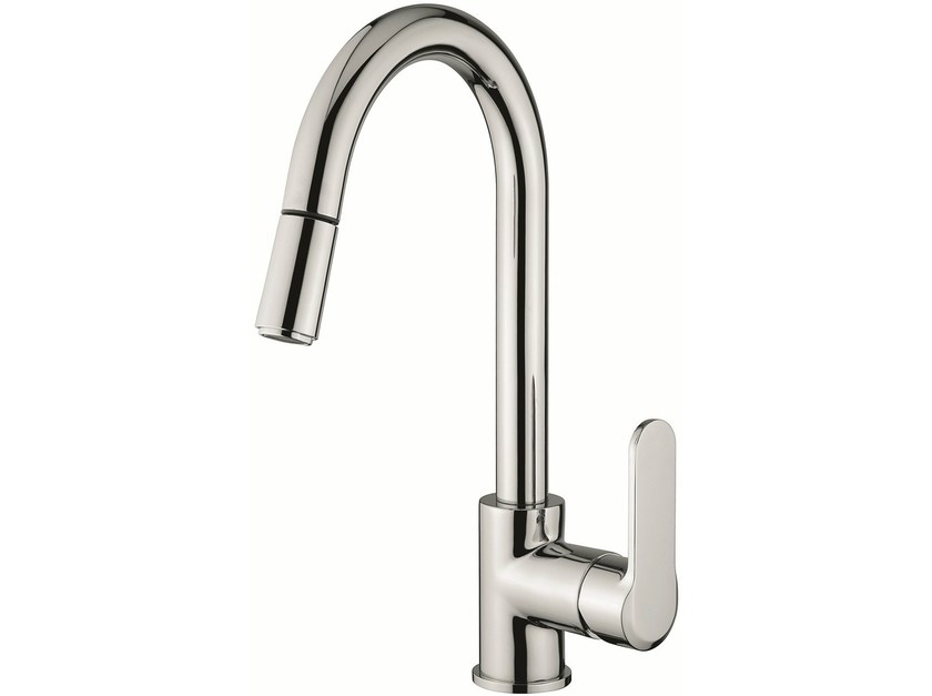 Countertop kitchen mixer tap with pull out spray 77066 | Kitchen mixer tap by EMMEVI RUBINETTERIE