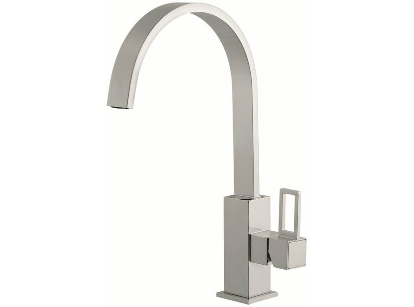 Countertop kitchen mixer tap with swivel spout 47007LA | Kitchen mixer tap by EMMEVI RUBINETTERIE