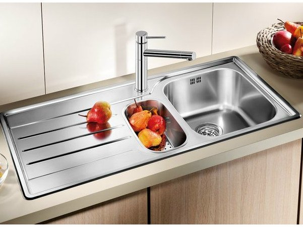 Built-in stainless steel sink with drainer BLANCO MEDIAN 6 S by Blanco
