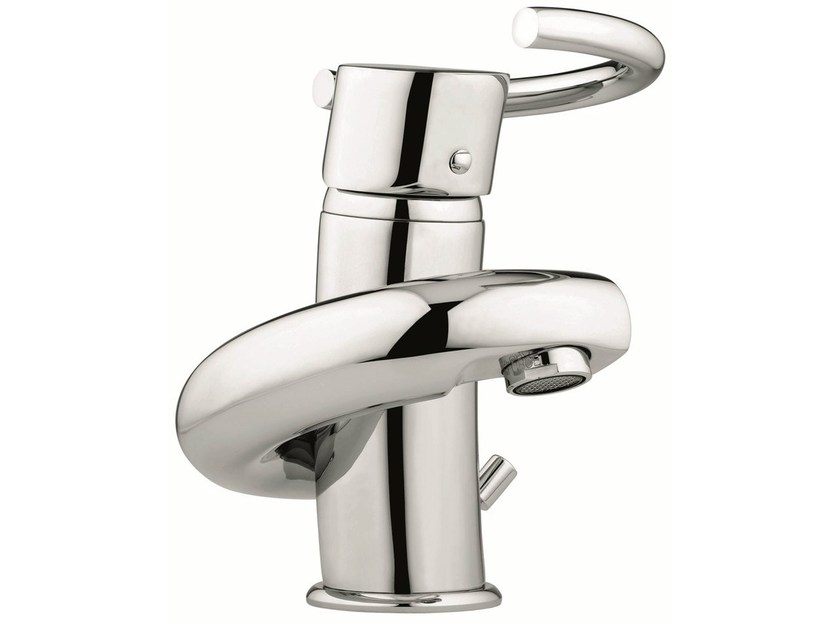 Countertop washbasin mixer with automatic pop-up waste 6603 | Washbasin mixer by EMMEVI RUBINETTERIE