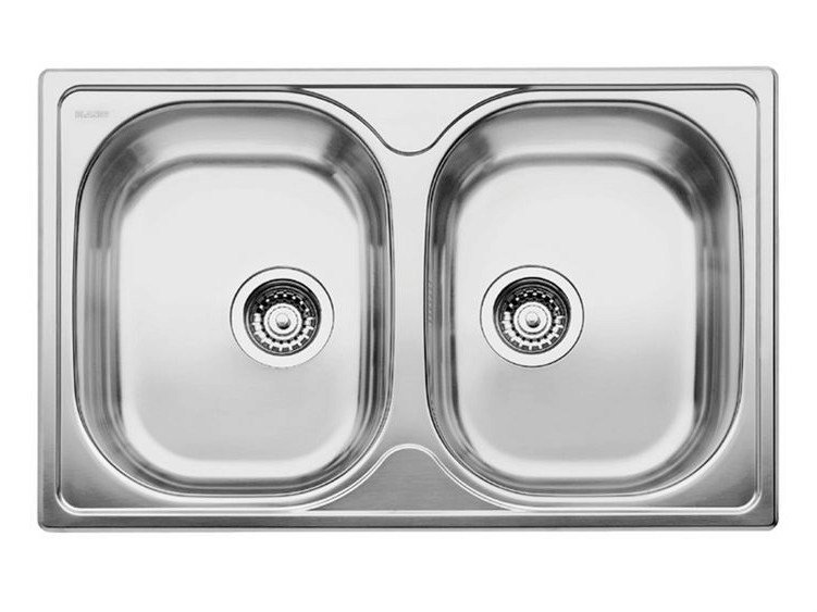 2 bowl built-in stainless steel sink BLANCO TIPO 8 COMPACT by Blanco