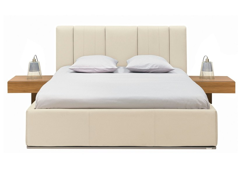 Leather double bed PREMIUM | Bed by GAUTIER FRANCE