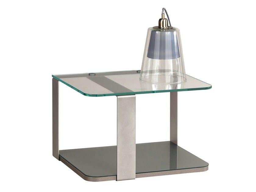 Metal/glass bedside unit PREMIUM by GAUTIER FRANCE