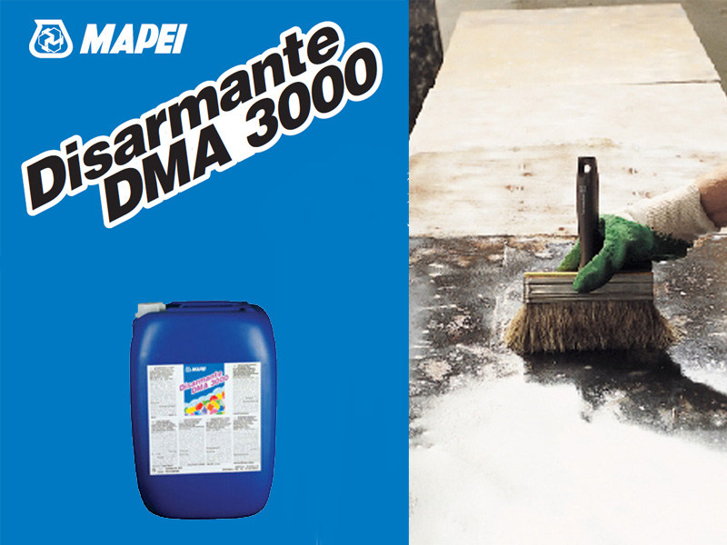 Formwork release and equipment for cleaning formwork DISARMANTE DMA 3000 by MAPEI