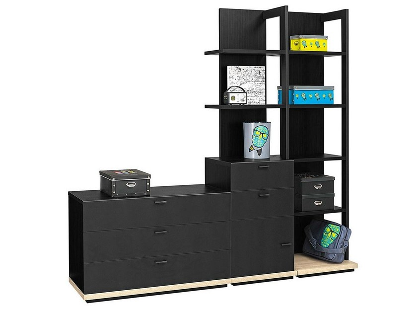 Freestanding kids bookcase with drawers URBAN - 2 by GAUTIER FRANCE
