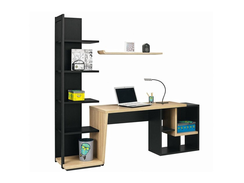 Rectangular Kids writing desk with bookcase URBAN - 6 by GAUTIER FRANCE