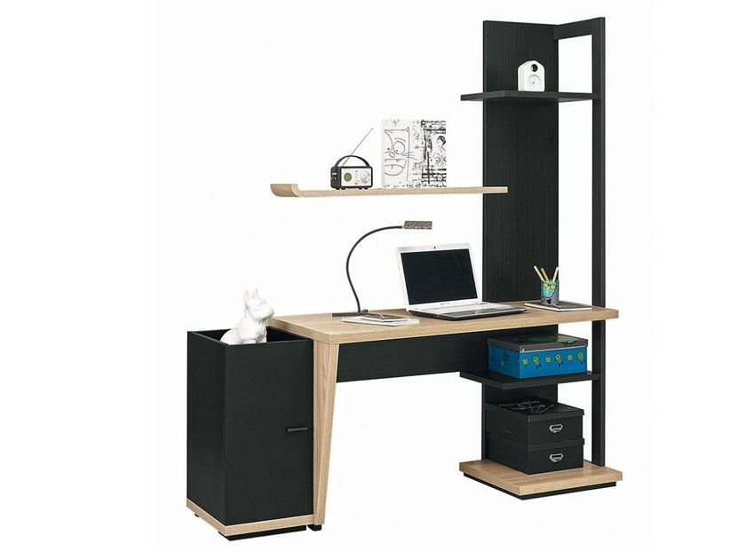 Rectangular Kids writing desk with bookcase URBAN - 10 by GAUTIER FRANCE