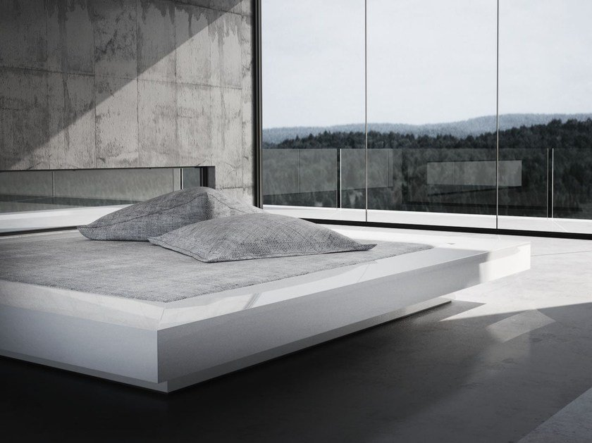 Contemporary style double bed VISUM by RECHTECK