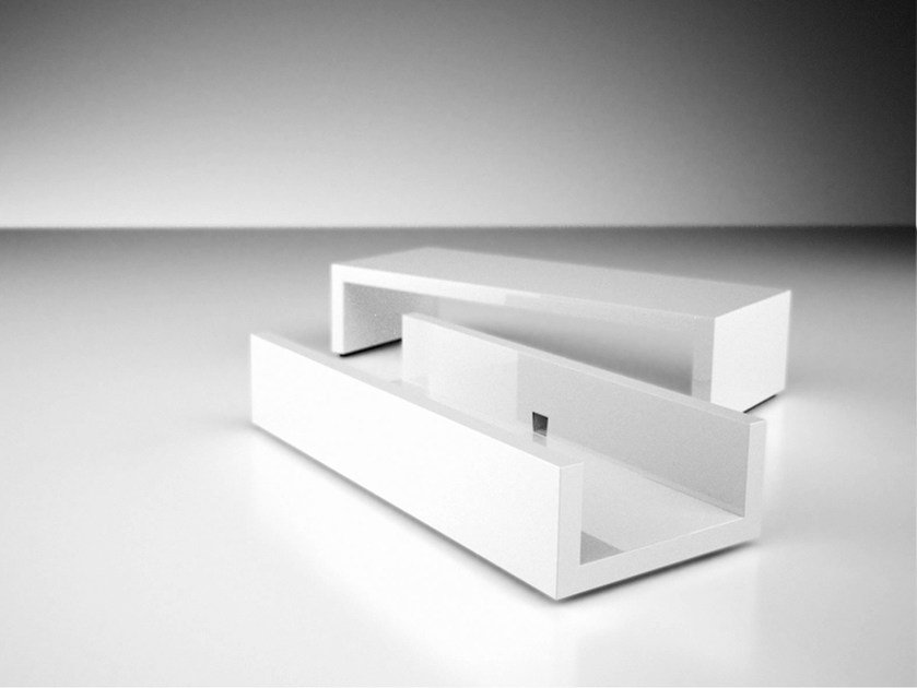 Rectangular coffee table with casters REPOSITIO | Coffee table by RECHTECK