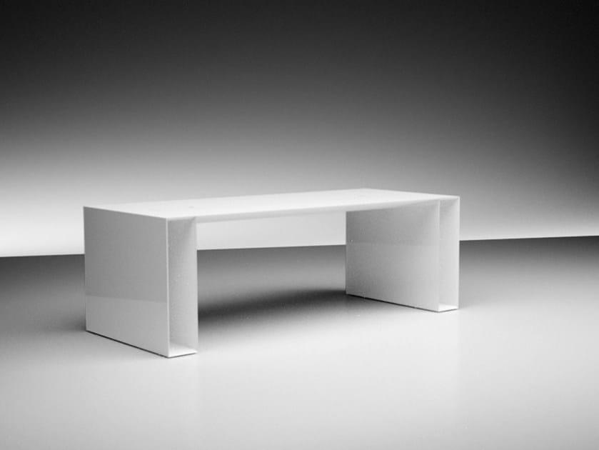 Rectangular lacquered office desk SUMMARUM LEVE by RECHTECK