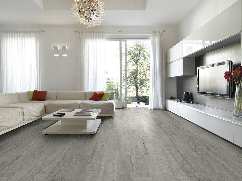 Porcelain stoneware flooring with wood effect VISUAL by Ceramica Rondine
