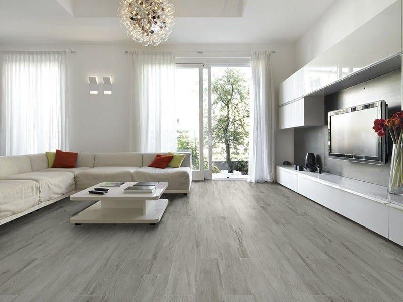 Pavimento in gres porcellanato effetto legno visual by ceramica