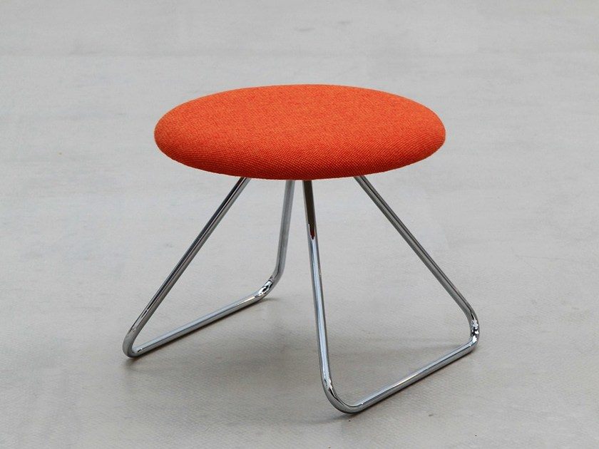 Sled base fabric footstool DENNIE | Footstool by Onecollection