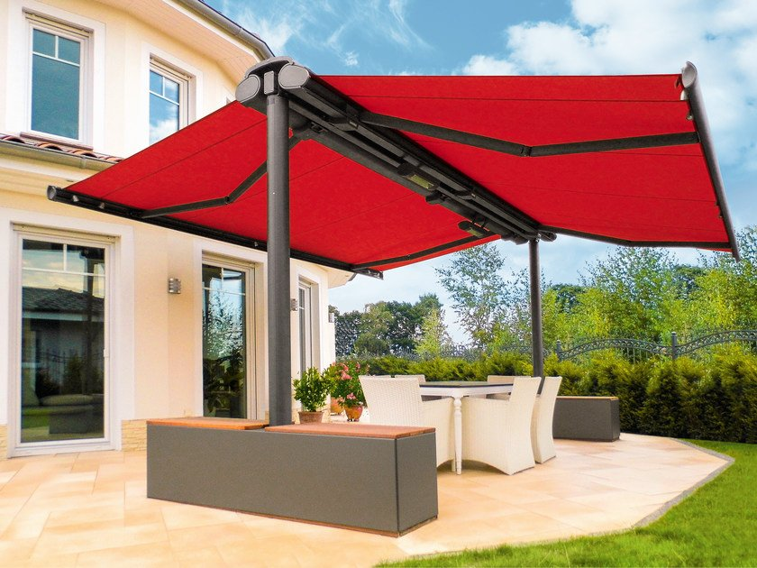 Freestanding Folding Arm Awning Markilux Syncra Flex 2