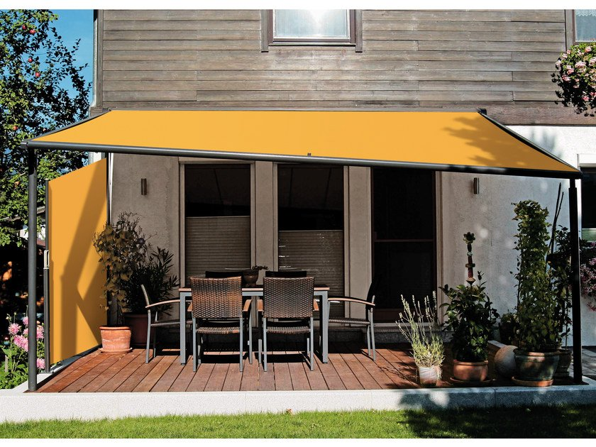 Box motorized awning with guide system MARKILUX PERGOLA 210-210 TRACFIX by markilux