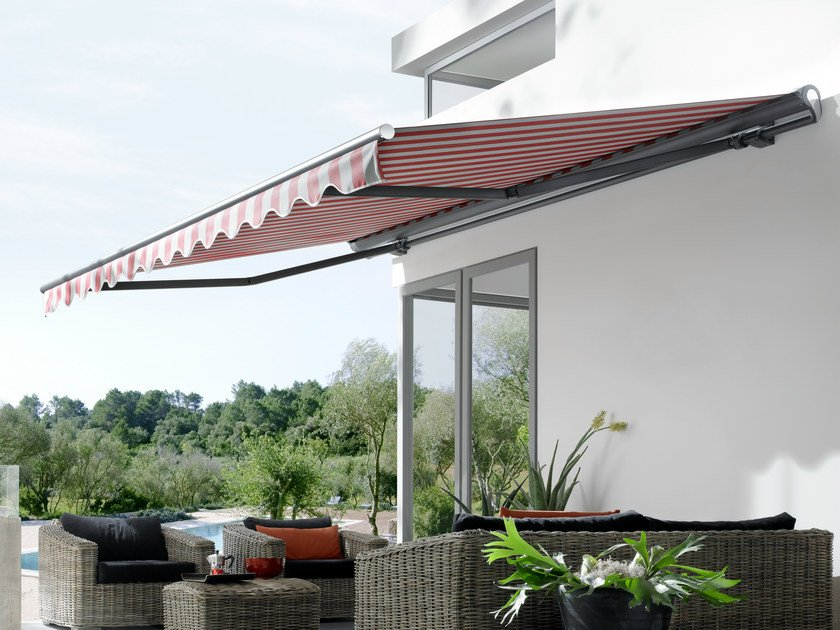 Box Folding arm awning MARKILUX 1710-1710 STRETCH by markilux