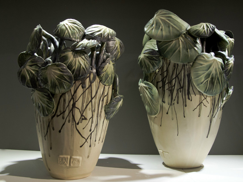 Porcelain stoneware vase NATURALIA   Vase by Fos Ceramiche