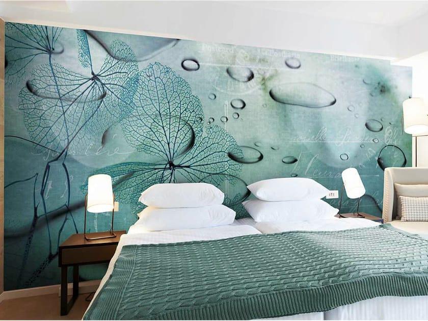 Vinyl or fyber glass wallpaper WATER FLOWER by N.O.W. Edizioni