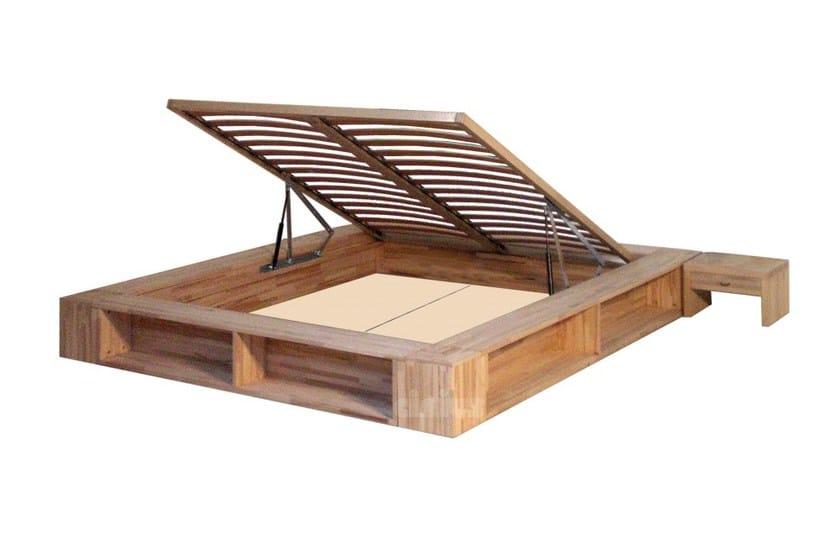Letto contenitore matrimoniale tatami in legno libroletto by cinius - Letto contenitore legno prezzi ...