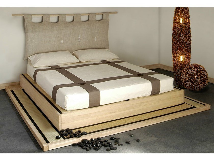 Tatami wooden double bed YASUMI | Double bed by Cinius