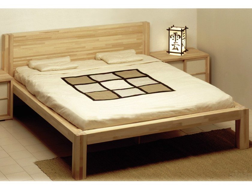 Tatami wooden double bed ZEN | Double bed by Cinius