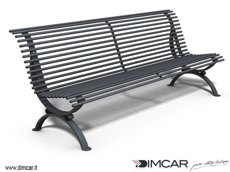 Metal Bench with back Panchina Clematis dritta by DIMCAR