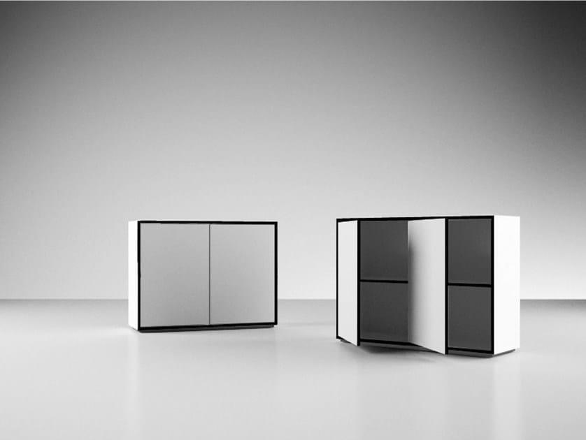 Low laminate office storage unit AUXILIUM | Office storage unit by RECHTECK