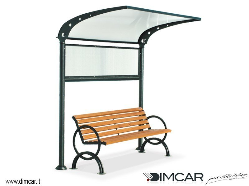 Classic style metal Bench Copertura Oasi by DIMCAR