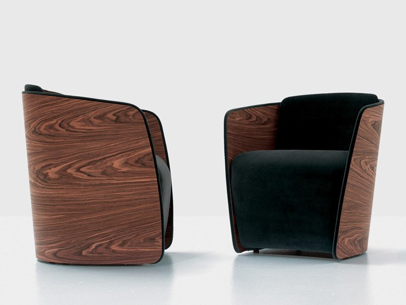 Upholstered armchair SIR by Nube Italia