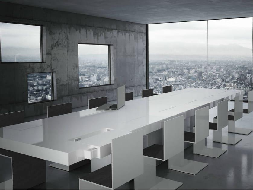 Rectangular meeting table CONVENTUS by RECHTECK