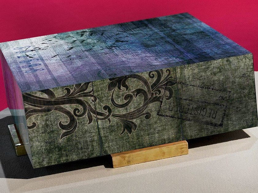 Low square resin coffee table WALLPAINT | Coffee table by N.O.W.  Edizioni