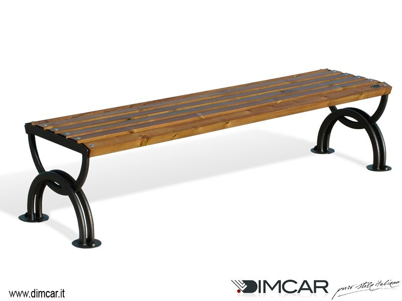 Classic style backless metal Bench Panca Lesina by DIMCAR