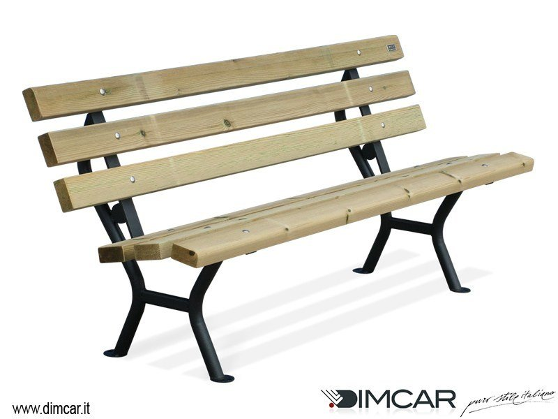 Classic style metal Bench with back Panchina Desy by DIMCAR