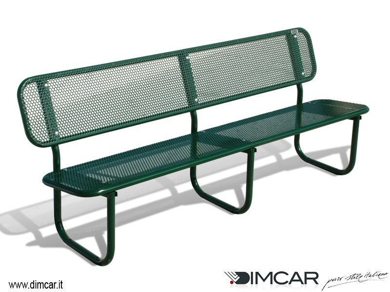 Classic style metal Bench with back Panchina Iride by DIMCAR