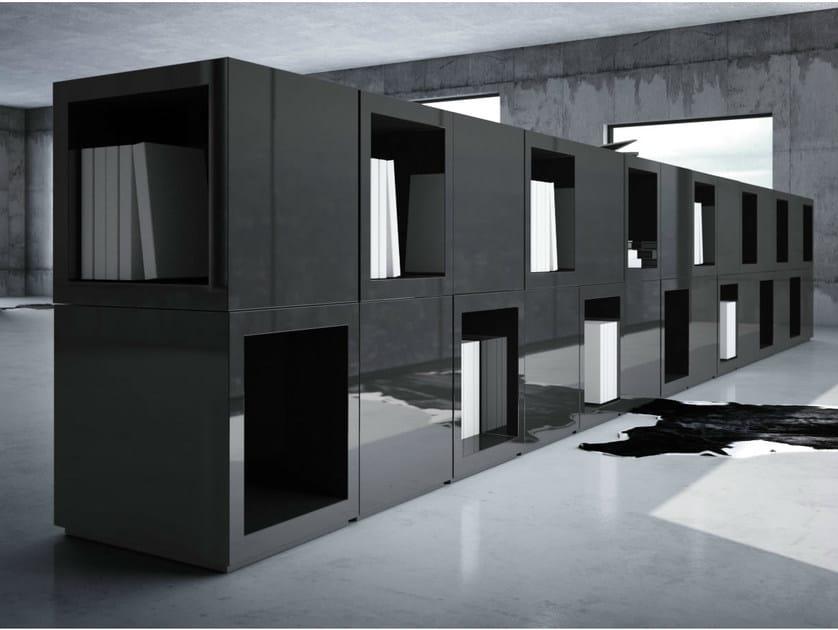 Modular laminate office storage unit LECTULUS by RECHTECK
