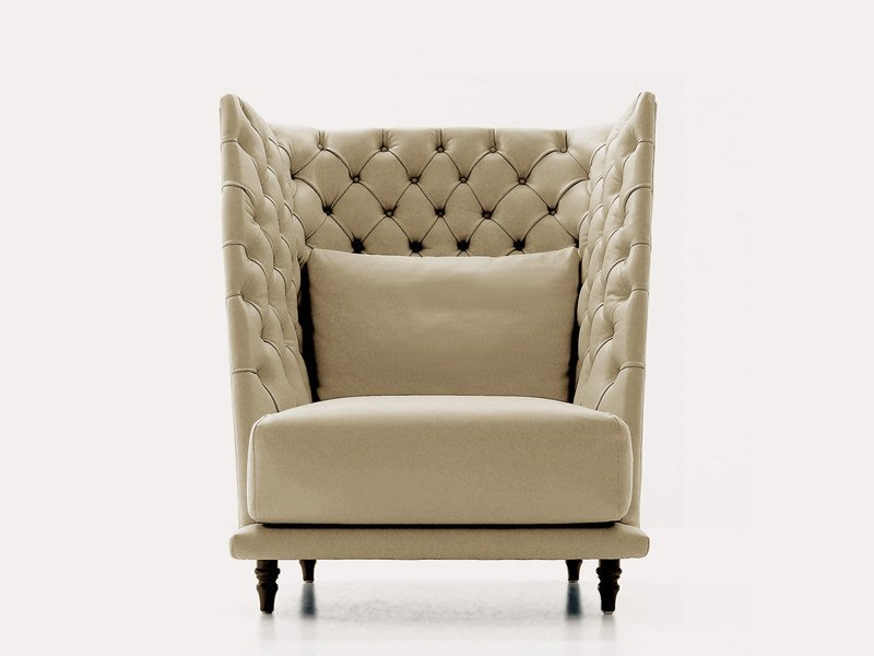Upholstered wingchair REMIND | Armchair by Nube Italia