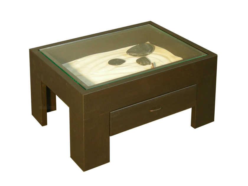 Rectangular wooden bedside table with drawers ZEN | Bedside table with drawers by Cinius