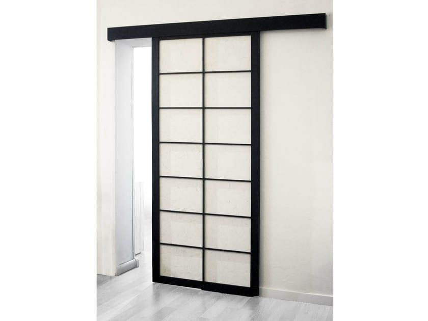 Porta scorrevole in legno porta scorrevole cinius - Inferriata porta ...