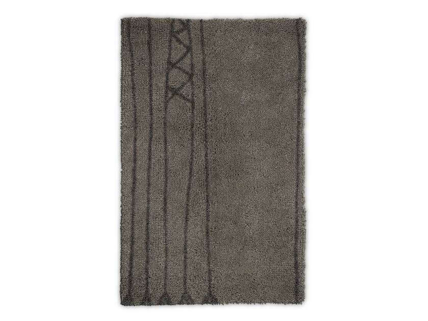 Rectangular wool rug PAPUA by BRABBU