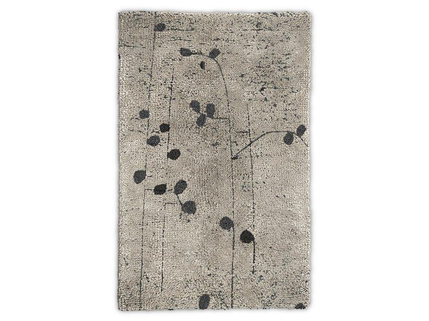 Rectangular wool rug POPPY by BRABBU