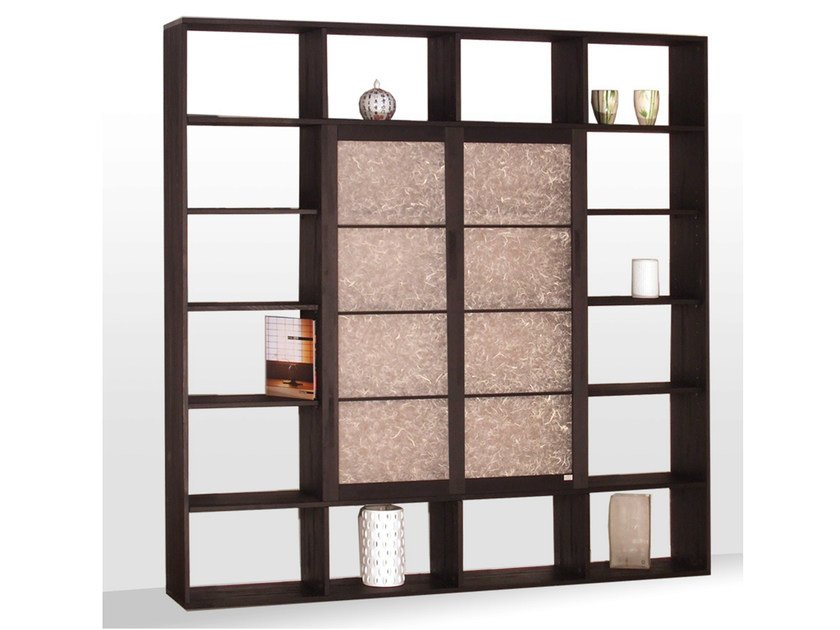 Freestanding lacquered wooden bookcase MOSCA by Cinius