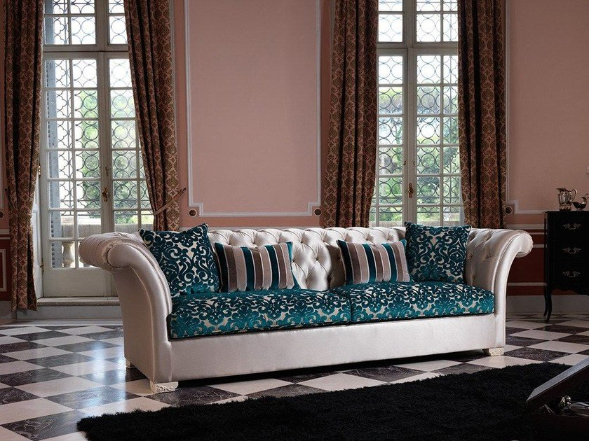 Chesterfield style tufted sofa DESDEMONA CHIC by Domingo Salotti