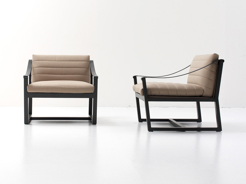 Sled base armchair SOFTWOOD by Nube Italia