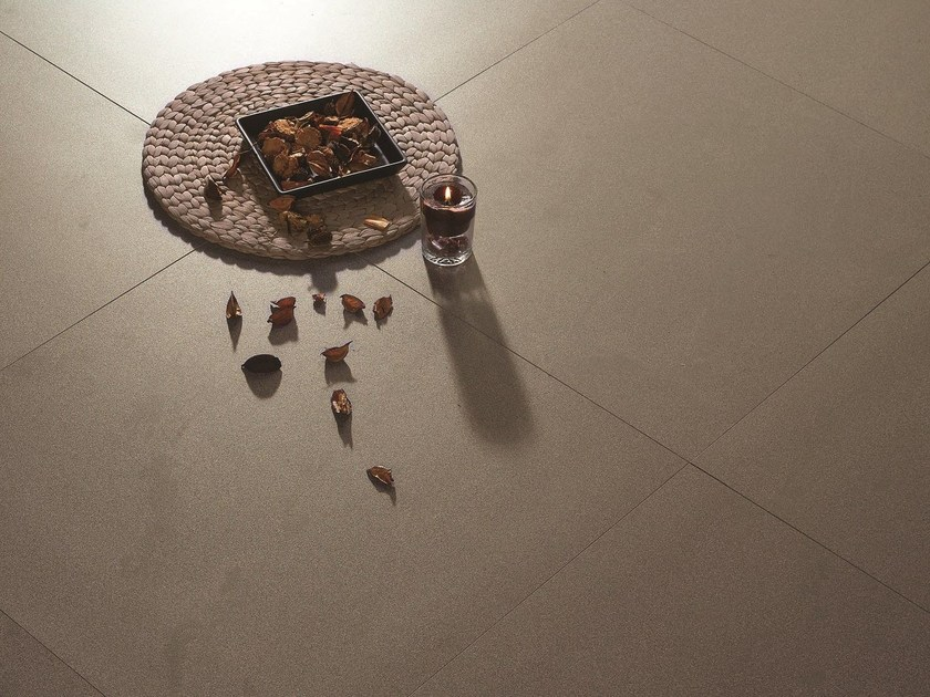 Full-body porcelain stoneware flooring FOSSIL by ROMAX