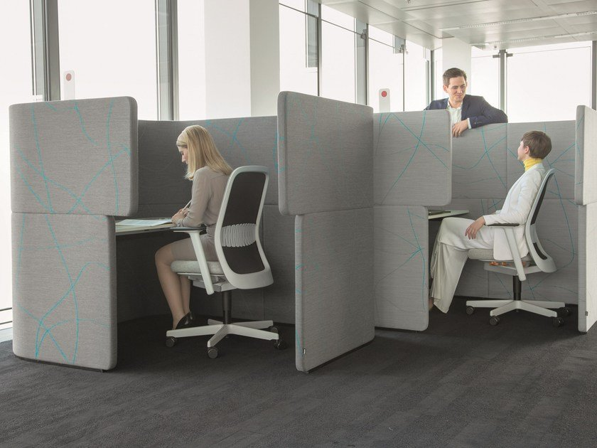 Acoustic office booth DOCKLANDS Dock-In Bay by BENE